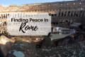 Finding peace in Rome - crystal neri